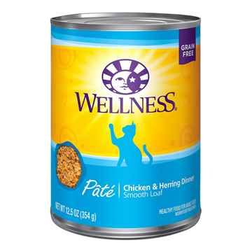 Picture of FELINE WELLNESS Pate Chicken & Herring Dinner - 12 x 12.5oz cans