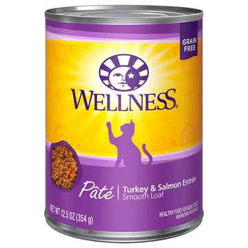 Picture of FELINE WELLNESS GF Pate Turkey & Salmon Entree - 12 x 12.5oz cans