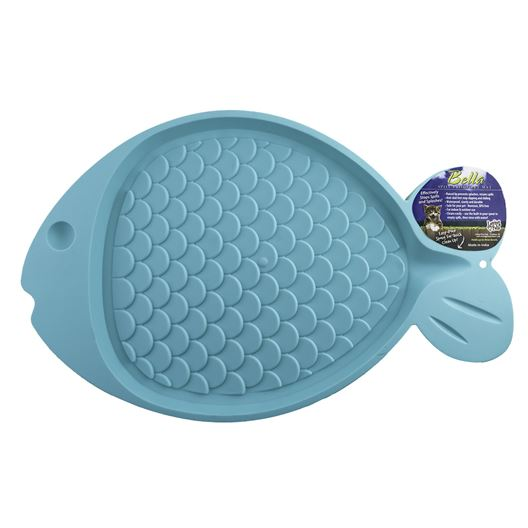 Picture of BELLA SPILL PROOF CAT FISH SHAPED MAT - Green