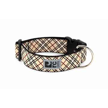 Picture of COLLAR RC CLIP WIDE Adjustable Tan Tartan - 1.5in x 15-25in