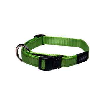 Picture of COLLAR ROGZ UTILITY LANDING STRIP Lime Green - 1- 5/8in x 20-32in