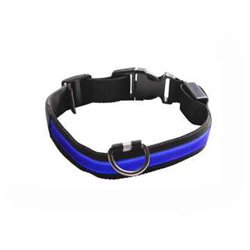 Picture of COLLAR EYENIMAL LED LIGHTED COLLAR  Medium - Blue(nr)