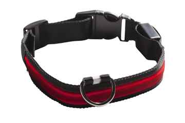 Picture of COLLAR EYENIMAL LED LIGHTED COLLAR  Large - Red(nr)