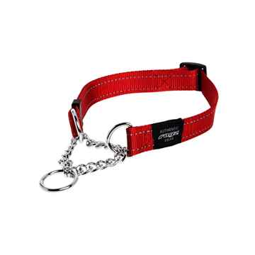 Picture of COLLAR ROGZ LUMBERJACK OBEDIENCE HALF CHECK Red - 1in x 17-27in(tu)