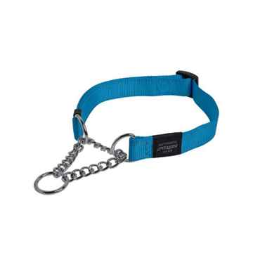 Picture of COLLAR ROGZ LUMBERJACK OBEDIENCE HALF CHECK Turquoise - 1in x 17-27in(tu)