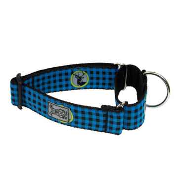 Picture of COLLAR RC ALL WEBBING TRAINING Adjust Blue Buffalo Plaid- 1.5inx16-27in