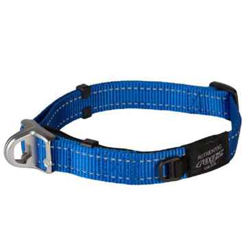 Picture of COLLAR ROGZ SAFETY CONTROL SNAKE Blue - 5/8in x 10.5-15in(tu)