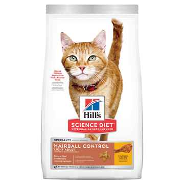 Picture of FELINE SCI DIET HAIRBALL LIGHT - 7lbs