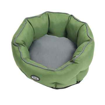 Picture of PET BED Buster Cocoon Style Artichoke Green / Grey - 26in