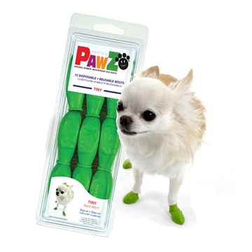 Picture of BOOTS PAWZ NATURAL RUBBER K/9 BOOTS Tiny Lt Green - 12/pk