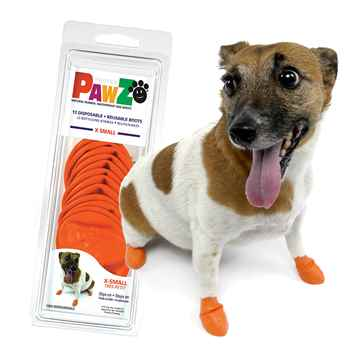 Picture of BOOTS PAWZ NATURAL RUBBER K/9 BOOTS X-Small Orange- 12/pk