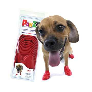 Picture of BOOTS PAWZ NATURAL RUBBER K/9 BOOTS Small Red - 12/pk