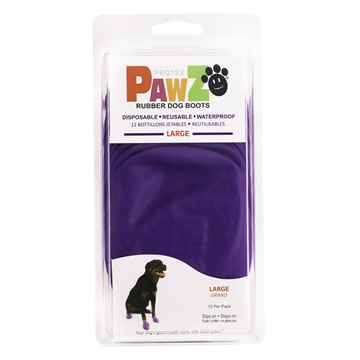 Picture of BOOTS PAWZ NATURAL RUBBER K/9 BOOTS Large Purple - 12/pk