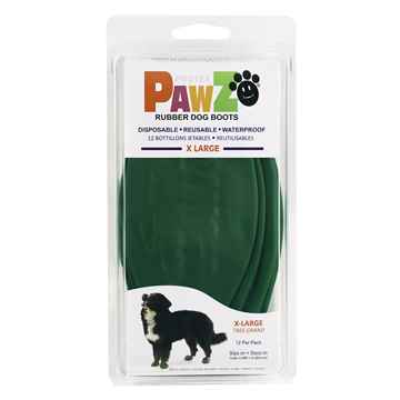 Picture of BOOTS PAWZ NATURAL RUBBER K/9 BOOTS X-Large Dk Green - 12/pk