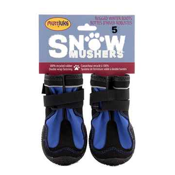 Picture of BOOTS MUTTLUK DOG SNOW MUSHERS Small/Med Blue - 2/pk
