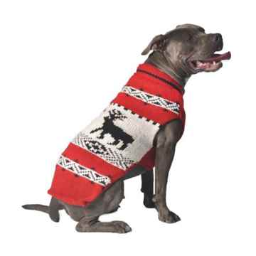 Picture of SWEATER CANINE Chilly Dog Nordic Reindeer Red - Medium