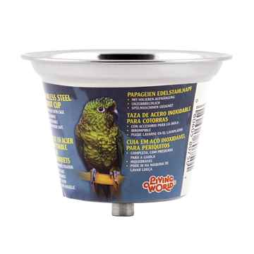 Picture of LIVING WORLD Stainless Steel Parrot Cup - Small - 360ml