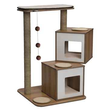 Picture of CAT FURNITURE VESPER V-DOUBLE Walnut (52048)