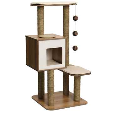 Picture of CAT FURNITURE VESPER V-HIGH BASE Walnut (52045)