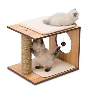 Picture of CAT FURNITURE VESPER V-STOOL Walnut (52073)