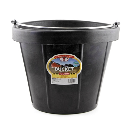 Picture of BUCKET RUBBER 12 Quart (11.4 liters)  BLACK