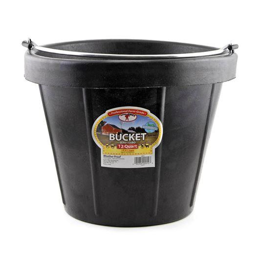 Picture of BUCKET RUBBER 12 Quart (11.4 liters)  BLACK