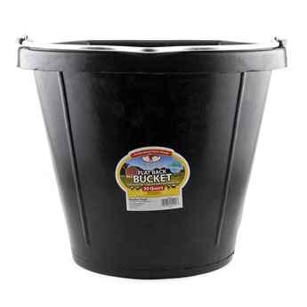 Picture of BUCKET FLATBACK RUBBER 20 Quart (18.9 liters) BLACK