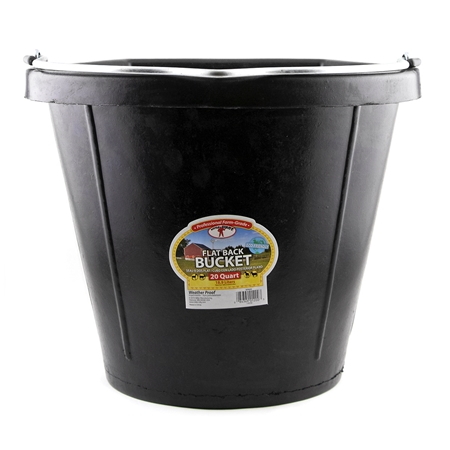Picture of BUCKET FLATBACK RUBBER 20 Quart (18.9 liters) BLACK