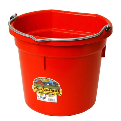 Picture of BUCKET PLASTIC FLATBACK 20 QUART - Red