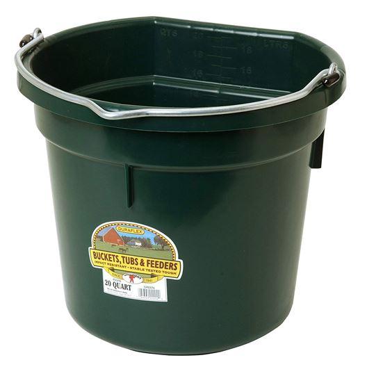 Picture of BUCKET PLASTIC FLATBACK 20 QUART - GREEN