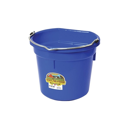 Picture of BUCKET PLASTIC FLATBACK 20 QUART - BLUE