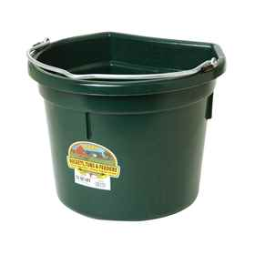 Picture of BUCKET PLASTIC FLATBACK 22 QUART - GREEN