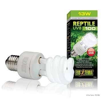 Picture of EXO TERRA REPTILE UVB 100 COMPACT TERRARIUM LAMP 13w (nr)