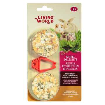 Picture of LIVING WORLD WHEEL DELIGHTS Herbs & Hay - 2/pk