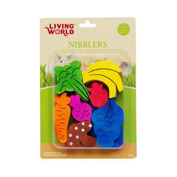 Picture of LIVING WORLD WOOD NIBBLERS(61467) - Fruit/Veggie Mix