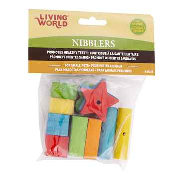 Picture of LIVING WORLD NIBBLERS WOOD CHEW Shape Mix - 12/pk