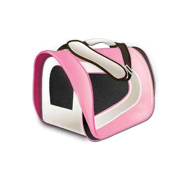 Picture of TUFF CRATE Airline Carrier 17in x 10in x 9in - Pink and Cream