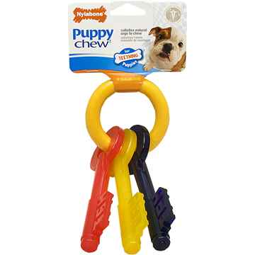 Picture of NYLABONE PUPPY TEETHING KEYS (N220) - Small