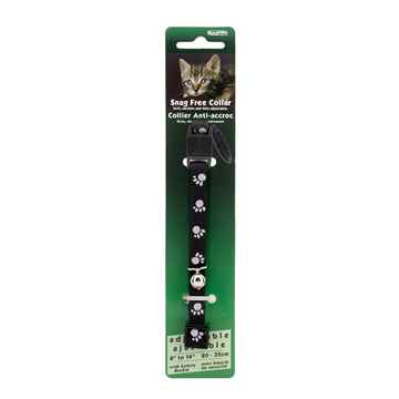 Picture of COLLAR CAT REFLECTIVE SNAG FREE BREAK AWAY - Black
