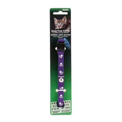 Picture of COLLAR CAT REFLECTIVE SNAG FREE BREAK AWAY -Purple
