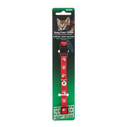 Picture of COLLAR CAT REFLECTIVE SNAG FREE BREAK AWAY-Red