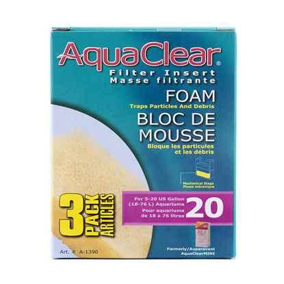 Picture of AQUACLEAR 20 FOAM FILTER INSERT (A1390) - 3/pk