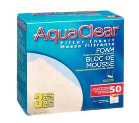 Picture of AQUACLEAR 50/200 FOAM Filter insert (A1394) - 3 pieces