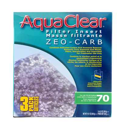 Picture of AQUACLEAR 70 ZEO-CARB FILTER INSERT (A1406) 3 piece