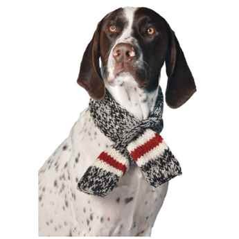 Picture of SCARF CANINE Chilly Dog Boyfriend Black/White/Red - Small