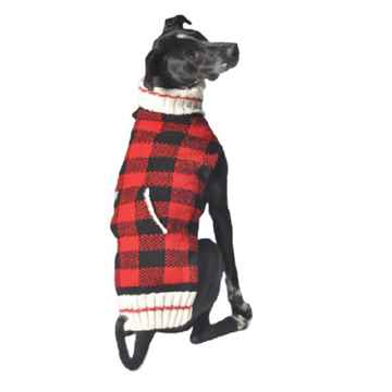 Picture of SWEATER CANINE Chilly Dog Buffalo Plaid Red - X Small