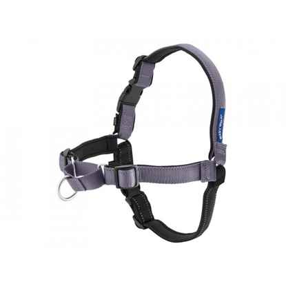 Picture of EASY WALK DELUXE NO PULL HARNESS Med/Large - Steel Grey