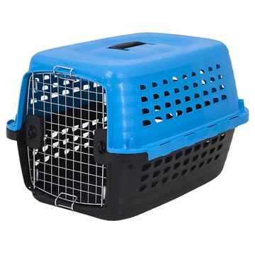 Picture of KENNEL CAB Compass Fashion Color Blue/Black - 19 x 12.7 x 11.5in(tu)
