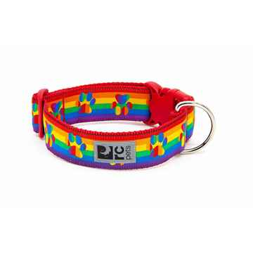 Picture of COLLAR RC CLIP WIDE Adjustable Rainbow Paws - 1.5in x 12-20in