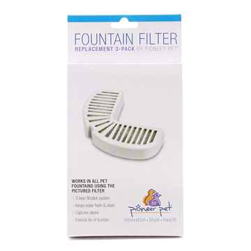 Picture of PIONEER PET Stainless Steel  DRINKING FOUNTAIN Repl Filter - 3/pk